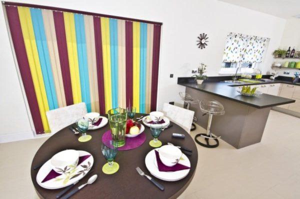 Цветные жалюзи для кухни