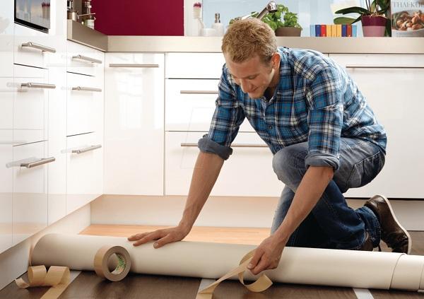 Как постелить линолеум на кухне