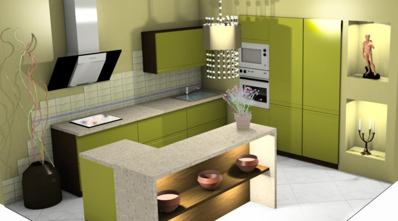 3D Дизайн Интерьеров кухни