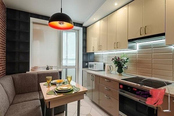 дизайн интерьера кухни 12 кв м фото в типовой квартире