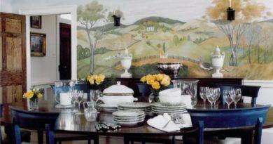 Художественная роспись стен кухни
