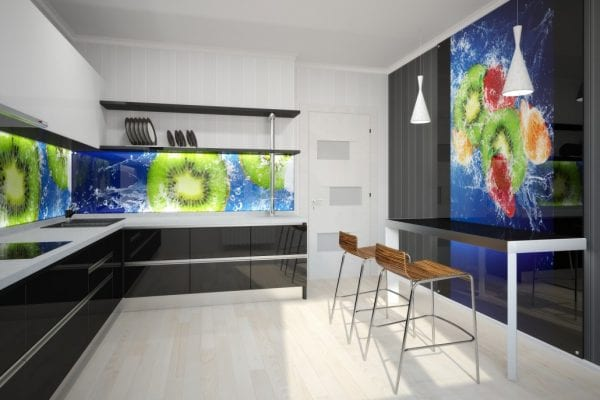 Стеклянный фартук на кухню с полноцветной печатью качественной фотографии